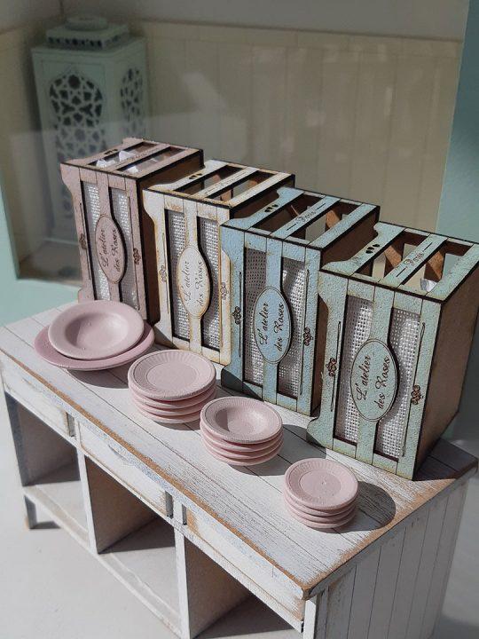Tableware L'atelier des Roses miniature plates